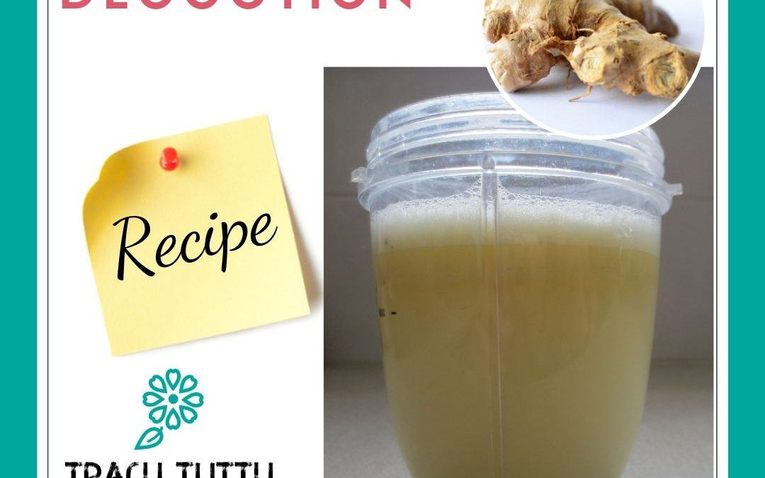 A quick way to make fresh ginger tea