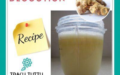 A quick way to make fresh ginger tea