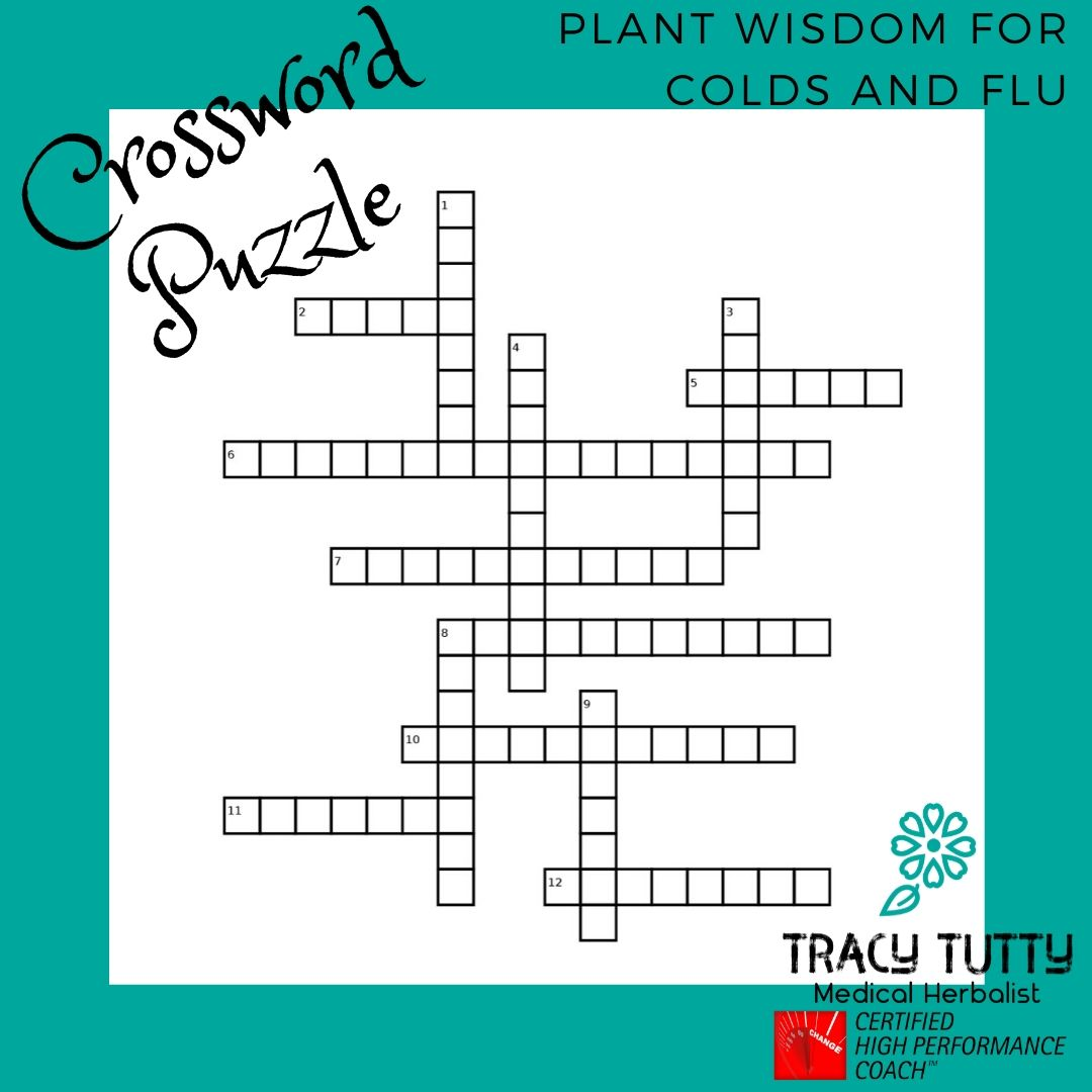 Crossword using plant wisdom for colds and flu