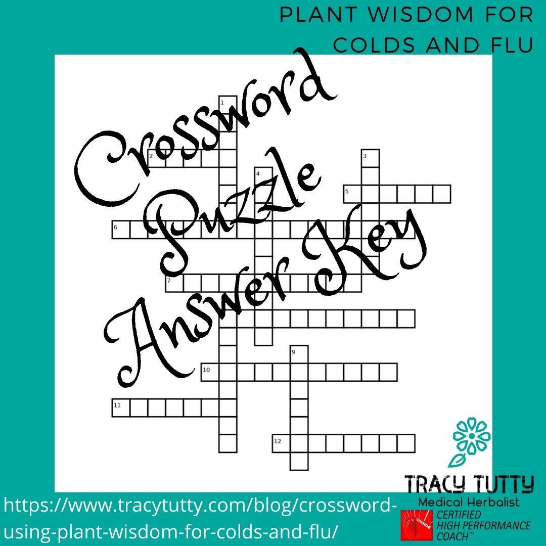The answers to last week's crossword puzzle