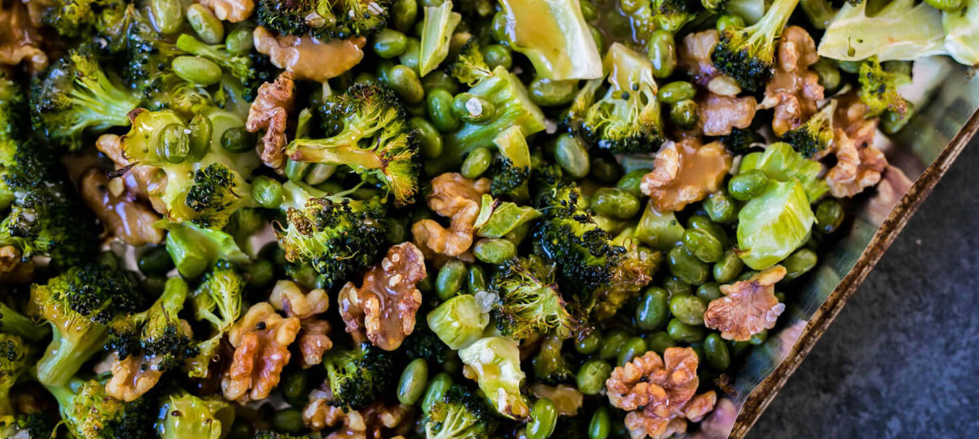 Roast Edamame and Broccoli Salad